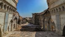 """آثار التخريب ماثلةً مطلع 2021 في كنيسة الطاهرة بالموصل، بعد سنوات من طرد """"داعش"""" من المدينة (Getty)"""