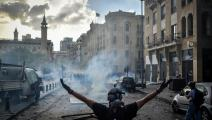 بيروت 2020: يواجه وحيداً آلة قتل ونهبٍ وتخريب (STR/ نور فوتو/ Getty)