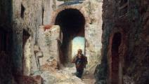 """جزء من لوحة """"الباب المورسكي"""" (1835) للفرنسي أوجن إيزابيه (Getty)"""