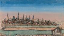 خريطة للقدس تعود لعام 1770، وضعها لويس جوزف موندهار (Getty)