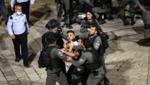 إسرائيل تمنع أي تجمعات فلسطينية في القدس (مصطفى الخاروف/الأناضول)