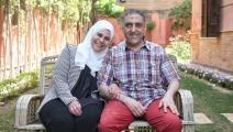 الأكاديمية المصرية منار الطنطاوي وزوجها هشام جعفر (فيسبوك)