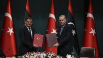 أردوغان الدبيبة - ليبيا تركيا - الأناضول