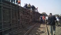 سياسة/انقلاب قطار بمصر/(تويتر)