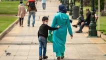 طفل ووالدته في المغرب (فاضل سنّا/ فرانس برس)