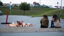 موقع جريمة قتل طفل في السويد (علي لرستاني/ فرانس برس)
