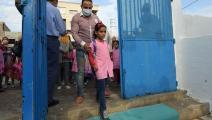 مدرسة في تونس وسط كورونا (فتحي بلعيد/ فرانس برس)