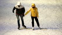 ثنائي وتزلج وسط كورونا في روسيا (أرتيوم جيودكيان/ Getty)