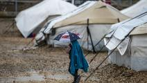 طفل في مخيم روج في سورية (دليل سليمان/فرانس برس)