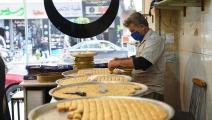 حلويات رمضان في حلب في سورية (فرانس برس)