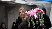في إحدى حفلات الزفاف في ريف حلب (رامي السيد/ فرانس برس)