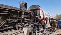 حادث تصادم قطارين في سوهاج راح ضحيته 19 قتيلاً
