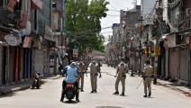 حركة ضئيلة في أسواق نيودلهي والشرطة تقيد المرور