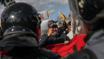 تحركات شعبية في تونس (الشاذلي بن إبراهيم/ Getty)