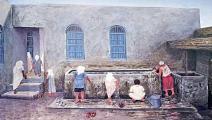 (من أعمال الفنان الكويتي الراحل أيوب الأيوب، من المعرض)