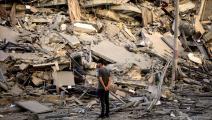 دمار وإخلاء منازل في غزة 1 (محمد الحجار)