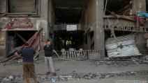 دمار في حي الرمال في مدينة غزة 5 (محمد الحجار)