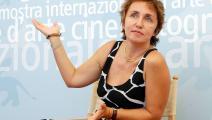رندة الشهّال في مهرجان فينيسيا السينمائي (2003): جحيم الذاكرة (فرانكو أوريغْلِيا/ Getty)