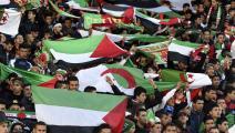 مبارة بين الفريقين الجزائري والفلسطيني - القسم الثقافي