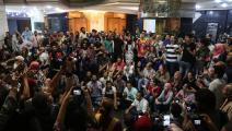نقابة الصحافيين المصريين محاصرة أيضاً (محمد الراعي/فرانس برس)