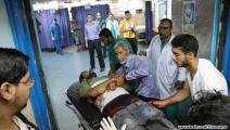 نقل جريح إلى أحد مستشفيات غزة (محمد الحجار)