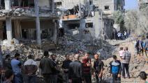 تعمّد الاحتلال تدمير الشوارع والبنية التحتية (عبد الحكيم أبو رياش/العربي الجديد)