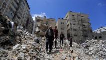 منزل عائلة شيماء الذي دمرته صواريخ الاحتلال (عبد الحكيم أبو رياش)