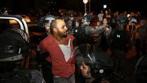 اعتداءات على الفلسطينين في الشيخ جراح (الأناضول)