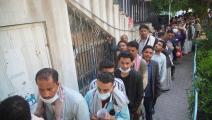 زحام على مراكز التلقيح ضد كورونا في اليمن (الأناضول)