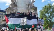 تظاهرة في باريس تضامناً مع فلسطين