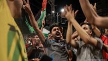 يحتفلون بانتهاء العدوان (محمد الحجار)