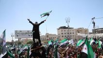 تظاهرات في إدلب رفضاً لانتخابات النظام-عامر السيد علي/العربي الجديد