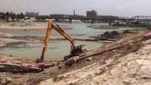 انخفاض ملحوظ في منسوب مياه نهر دجلة (تويتر)