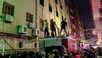 حريق كنيسة مار مينا - مصر - تويتر