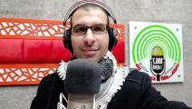 """الصحافي في إذاعة """"صوت الأقصى"""" يوسف أبو حسين (تويتر)"""
