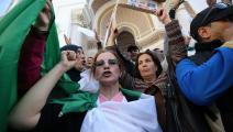 أساتذة جزائريون يشاركون في تظاهرات قبل نحو عامين (بلال بنسالم/ Getty)