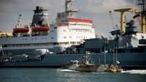 سفن روسية في ميناء طرطوس السوري/ فرانس برس