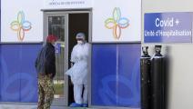 كورونا وعبوات أوكسجين في تونس (فتحي بلعيد/ فرانس برس)