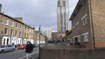 مبان سكنية في لندن في بريطانيا (مايك كمب/ Getty)