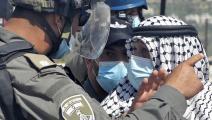 مواجهات في بلدة سبسطية في نابلس (جعفر أشتيه/ فرانس برس)