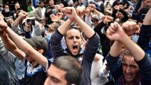 خلال تحرك مطلبي في الجزائر العاصمة (رياض كرامدي/ فرانس برس)