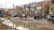 دمرت السيول العديد من مساكن اليمنيين (فرانس برس)