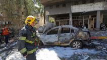 أضرار واسعة للمنشأت والممتلكات الإسرائيلية / فرانس برس