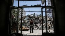 دمار غزة (Getty)
