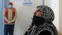 لاجئة سورية حصلت على لقاح كورونا في الأردن (Getty)