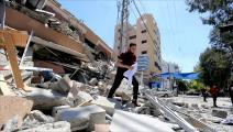 ركام عمارة كحيل في غزة (عبد الحكيم أبو رياش)