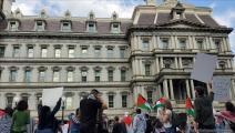 واشنطن/تظاهرة تضامناً مع فلسطين/عبد الرحمن يوسف