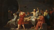 "لوحة ""موت سقراط"" لـ جان لوي دافيد"