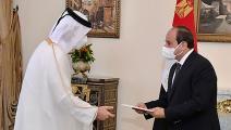سياسة/السيسي ووزير الخارجية قطر/(فايسبوك)