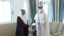 استلام أوراق اعتماد أول سفير سعودي في الدوحة منذ الأزمة الخليجية (تويتر)